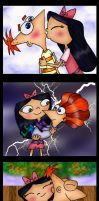 Cute moments of Isabella and Phineas colored by Fallonkyra
