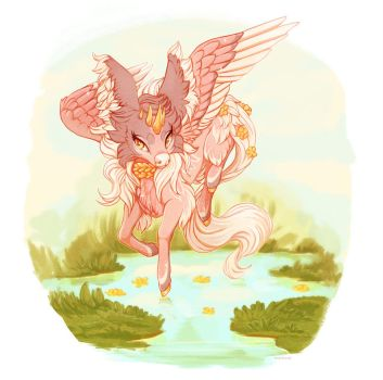 Minkin Secret Santa: Seraphim by BeanBread