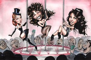 Celebrity Strippers Caricature by Carliihde