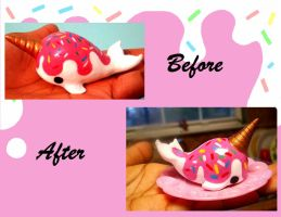 Before ans After Ice Cream Narwhal by SprinkleChick