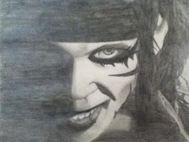 Portrait Of Andy Sixx Of BVB by Jadey-McBumNugget