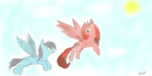 RosyBrush and FlyBy by Bluebird9209
