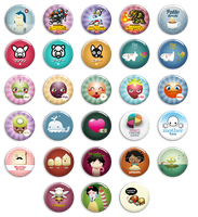 Button badges by gomitas