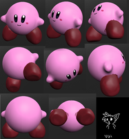 3D Tines Kirby by The-Cactus-Runner