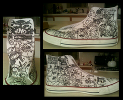 Cartoon Shoe WIP:Left by MandolinDoodler
