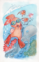 Summer Octopus Bunny by DivaLea