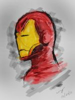 Iron Man Tablet Sketch by nicollearl