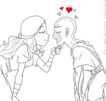 Valentine's Day 08: KatAang by DaCommissioner