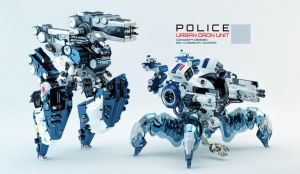 Police urban dron units by Ociacia