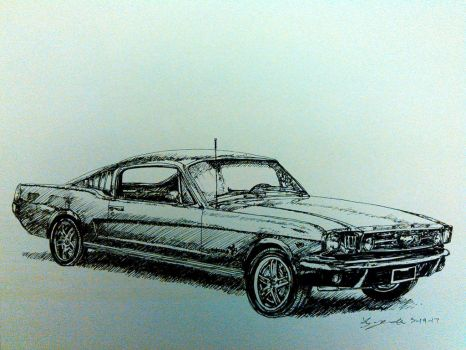 1965 Ford Mustang by magnifulouschicken
