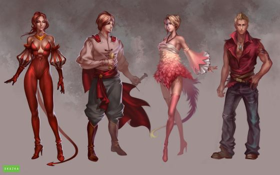 skzk characters by Sinto-risky