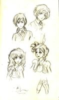 Princess Tutu Sketches by Blueroses321