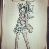 Pencil Colour Miku by DESTINYL8r-ART