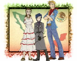 Hetalia Mexico sisters color by chaos-dark-lord