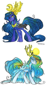 -RESUBMIT - NIGHT AND DAY PONY ADOPTS - SOLD!!! by ThePandorum