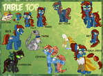 Commission: Tabletop Reference Sheet by Kazziepones