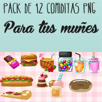 Pack De Comiditas Png Para Tus Dolls by AnnaRainbow