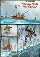 The old Bear and the sea p.1 by sledziu