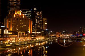 Melbourne City at Night by DanielleMiner