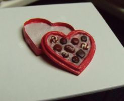 Miniature Box of Chocolates - Red Heart Box by Kyle-Lefort