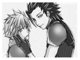 x Cloud and Zack x by chibiasta