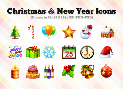 Christmas + New Year Icons by hongkiat
