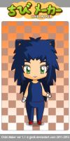 ChibiMaker Human Sonic by StarryWind2014