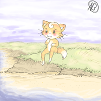 Beach Kitty by Angelainva