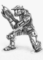 HALO - Master Chief. by Crow-Dreamer