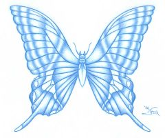 .:Butterfly in Blue:. by JessFox