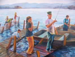 Fishing at Lake George by Wulff-Arts