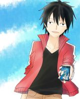 Shintaro and Ene in Summer by rinzen09