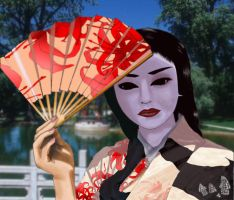 Geisha in red by Slolv