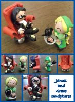 B-Day Gift: James and Grace Sculptures by Lolly-pop-girl732