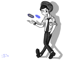 Me and my Harmonica by Trace-101
