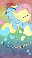 Rainbow Dash and Butterscotch Wallpaper by ForeverResa