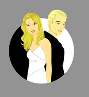 Buffy and Spike by Irrel