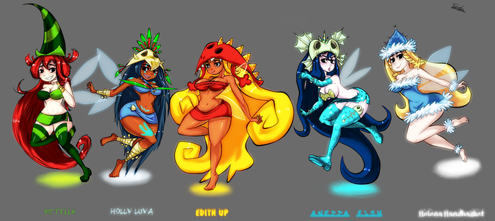 The Bodacious Nymphs of the Glade by ButteryTea
