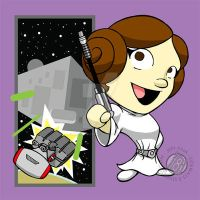 Star Wars Princess Leia Chibi by Sideways8Studios