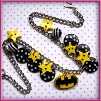 Batman Charm Necklace by wickedland