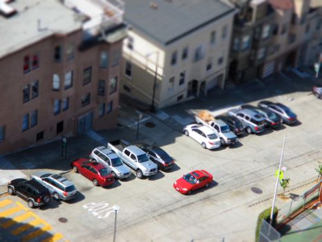 A tiltshifted car by Cometpluto
