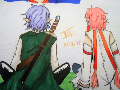 link and zushi by Cloverangelofdarknes