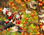 Franticshipping-Autumn colors by chikorita85