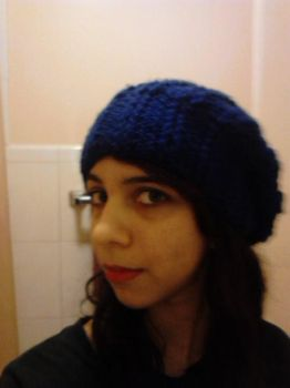 Blue Slouch Hat by ValentineRevenge