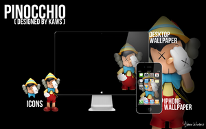 KAWS Pinocchio Wallpaper and Icons by acvschwartz
