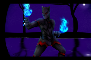 Stand .:Commission:. by Asleri
