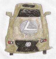 GOLD LEXUS IS by dth1971