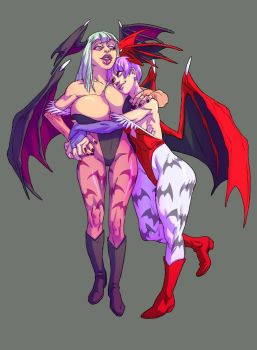 Morrigan n Lilith by pietro-ant