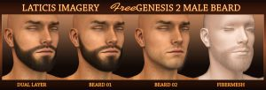 Laticis Imagery FREE - Genesis 2 Male Beard by Laticis