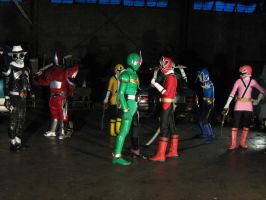 Shinkenger vs. Kamen rider W by nikocruz